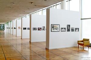 Общий вид зала, где расположена выставка.